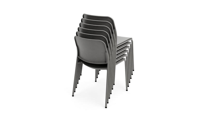 Beattie - Stackable Grey Plastic Chair - Contract Furniture - Hayche London