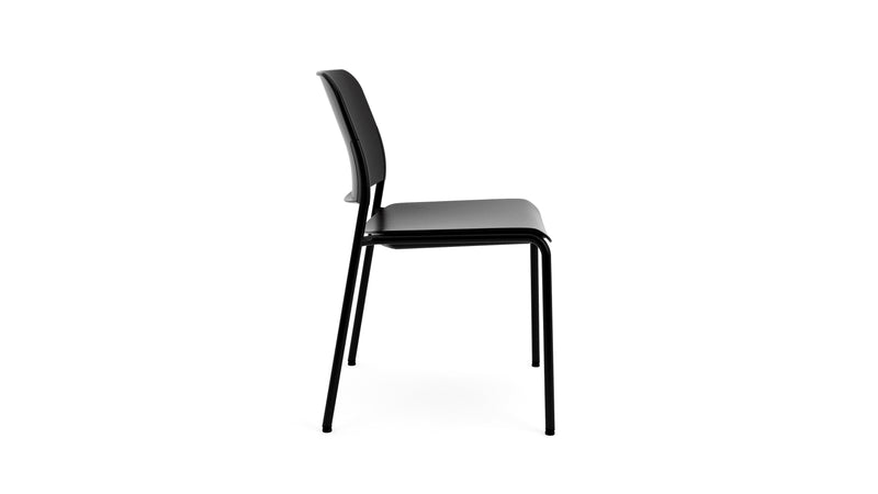 Beattie - Stackable Black Plastic Chair - Contract Furniture - Hayche London