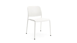 Beattie - Stackable White Plastic Chair - Contract Furniture - Hayche London