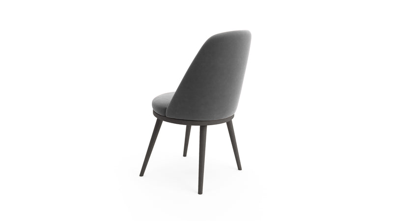 Gabi - Grey & Black Dining Chair - Hayche Furniture - Clerkenwell
