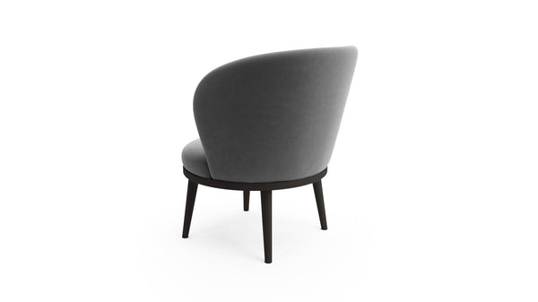 Gabi Lounge Chair - Grey Fabric - Black Beech Wood - Hayche - Clerkenwell London