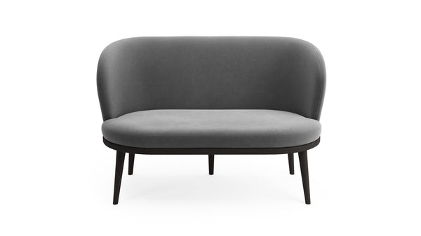 Gabi Sofa - Grey Fabric - Black Beech Wood - Hayche - Clerkenwell London