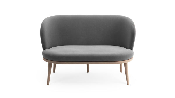 Gabi Sofa - Grey Fabric - Natural Beech Wood - Hayche - Clerkenwell London