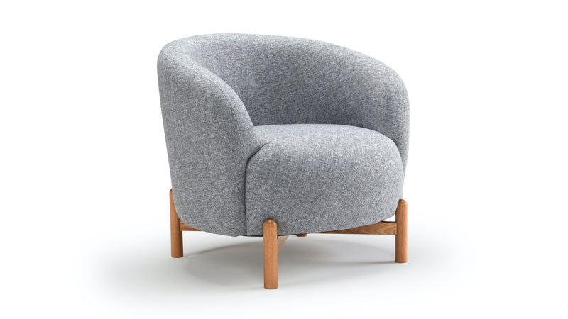 Glover Armchair - Grey & Oak