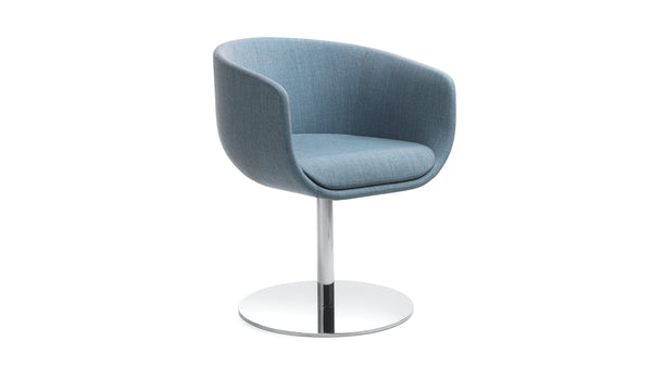 Hawley Meeting Chair - Blue & Round Base