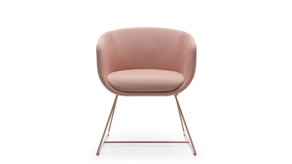 Hawley Meeting Chair - Pink & Sled Base