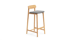 Kensington Bar Stool - Oak & Felt Seat