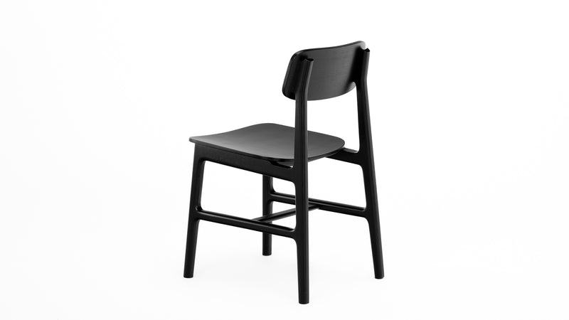 Black Oak Dining Chair - £349 - Hayche Furniture Clerkenwell - Contract Standard