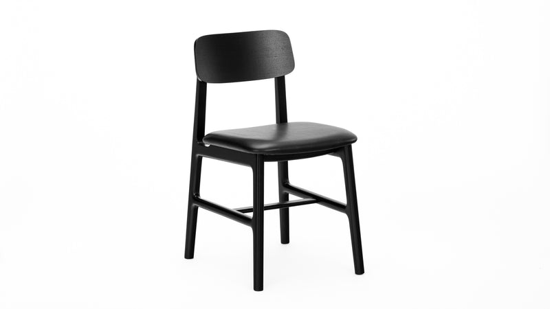 Kensington Chair - Black - Leather, Buy from Hayche.com - Faudet Harrison