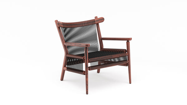 Loom lounge chair - Black Cord