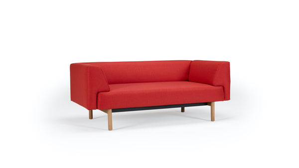 Mayall Sofa - Red & Oak - 2 seat