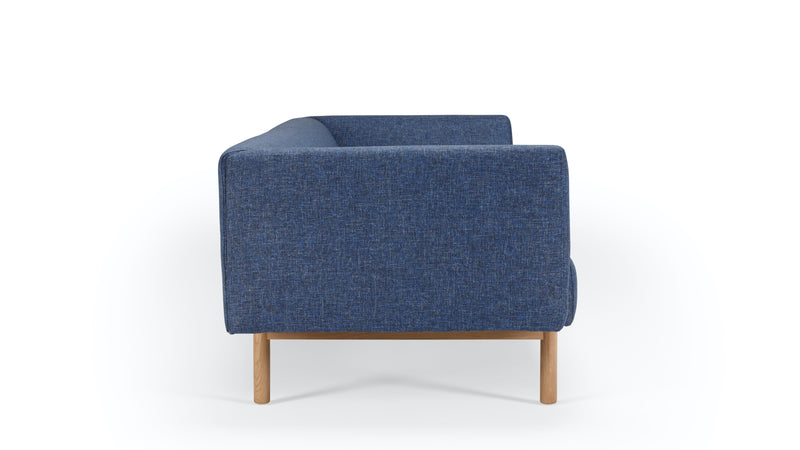 Mayall Sofa - Blue & Oak - 3 seat