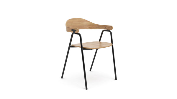Otto Armchair - Oak & Black