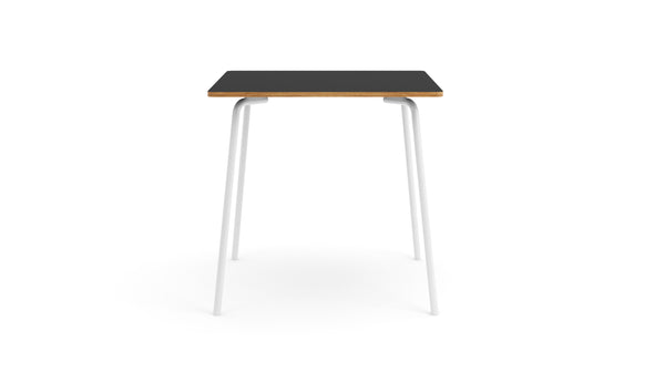 Otto Square Table - HPL Black Top & White