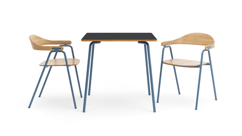 Otto Square Table - Oak & Blue
