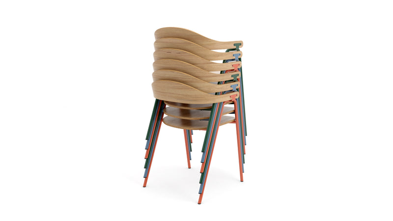 Otto Armchair - Oak & Racing Green