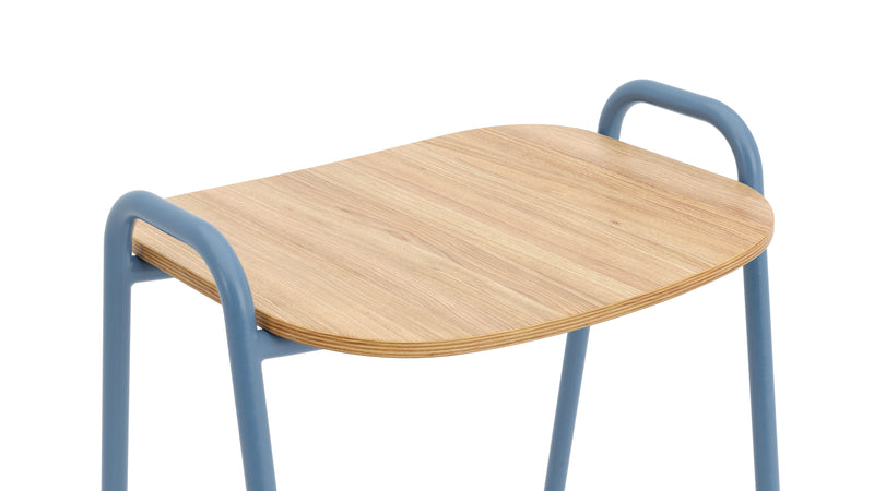 Otto Bar Stool - Oak & Blue