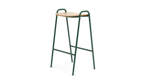 Otto Bar Stool - Oak & Green