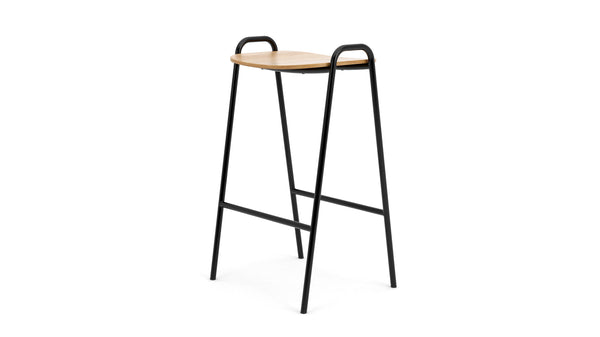 Otto Bar Stool - Oak & Black