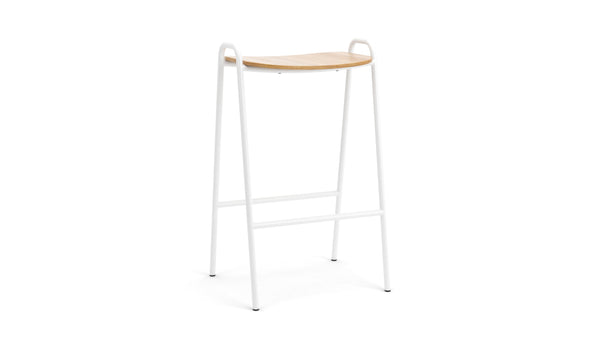Otto Bar Stool - Oak & White