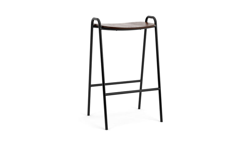 Otto Bar Stool - Walnut & Black