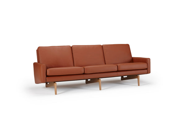 Retro 3-Seater Sofa - Leather