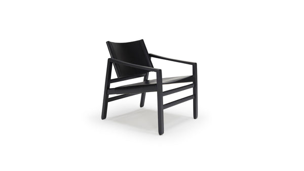 Saddle Armchair - Black & Black Leather