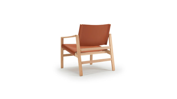 Saddle Armchair - Oak & Tan Leather
