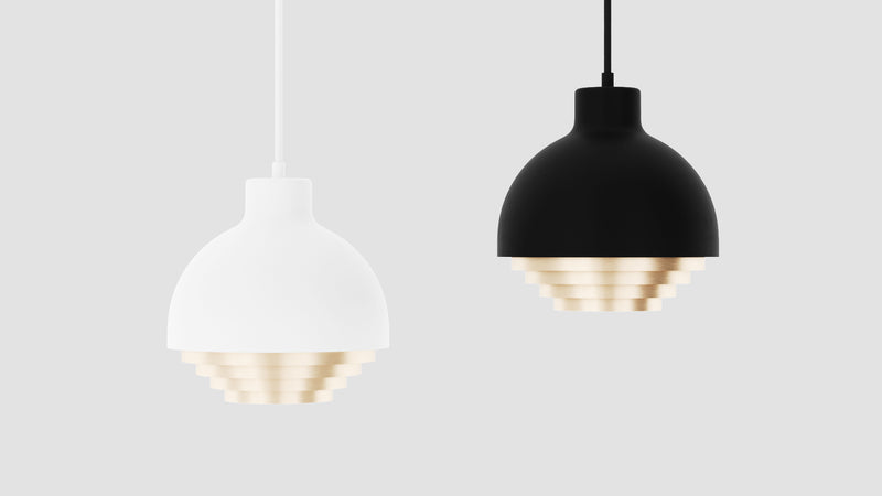 Strata Pendant Light - White & Brass