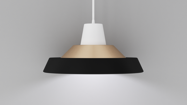 Totem Light Shade - Black Brass White