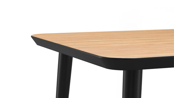 WW Dining Table - Rectangular - Oak & Black