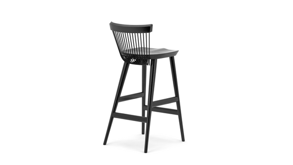 WW Bar Stool - All Black - 75cm, Bar Stool,  - Buy from Hayche.com