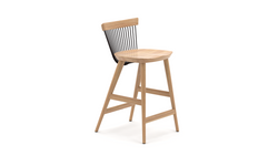 Incredible Ww Counter Stool Oak Black 65Cm Uk Modern Contract Bralicious Painted Fabric Chair Ideas Braliciousco