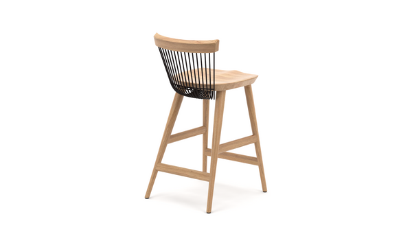WW Counter Stool - Oak & Black - 65cm, Counter Stool,  - Buy from Hayche.com