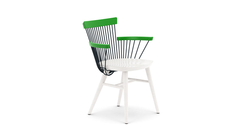 WW Armchair CS2  - Limited edition - Green, Deep Blue & White