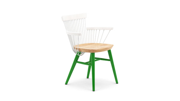 WW Armchair CS5 - Limited edition - White, Oak & Green