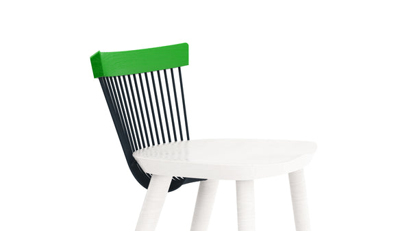 WW Bar Stool CS2  - Limited edition - Green, Deep Blue & White
