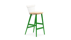 WW Bar Stool CS5 - Limited edition - White, Oak & Green