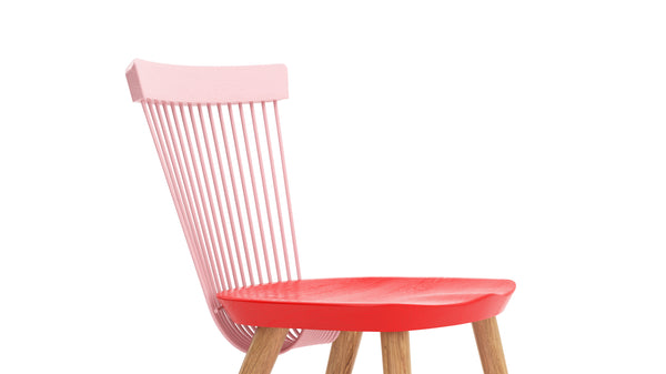 WW Side Chair CS1 - Limited edition - Pink, Red & Oak