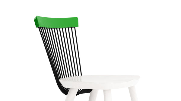 WW Side Chair CS2  - Limited edition - Green, Deep Blue & White