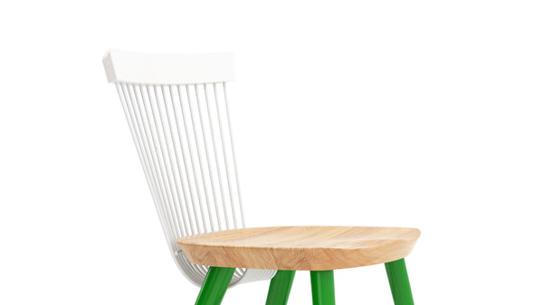 WW Side Chair CS5 - Limited edition - White, Oak & Green