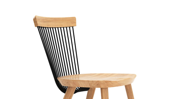 WW Side Chair - Oak & Black