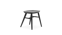 All Black Oak Low Stool - Hayche - Clerkenwell London
