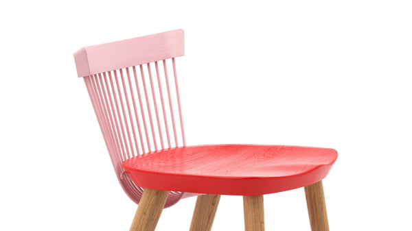WW Counter Stool CS1 - Limited edition - Pink, Red & Oak