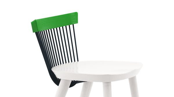 WW Counter Stool CS2  - Limited edition - Green, Deep Blue & White
