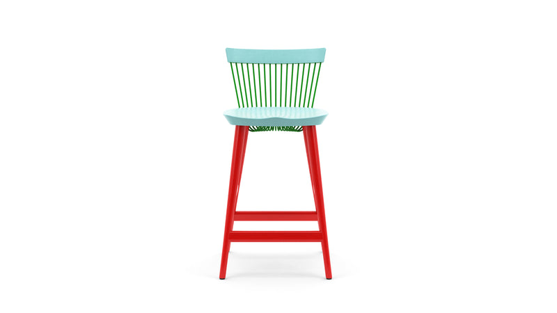 WW Counter Stool CS4 - Limited edition - Light Blue, Green & Red