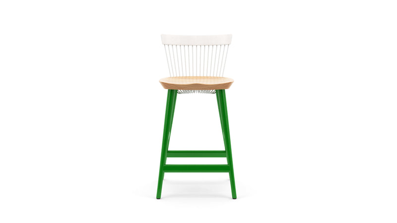 WW Counter Stool CS5 - Limited edition - White, Oak & Green