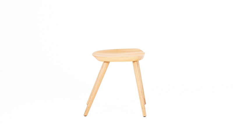 WW Low Stool - Solid Oak 45cm Stool - Clerkenwell - Hayche Contract Furniture