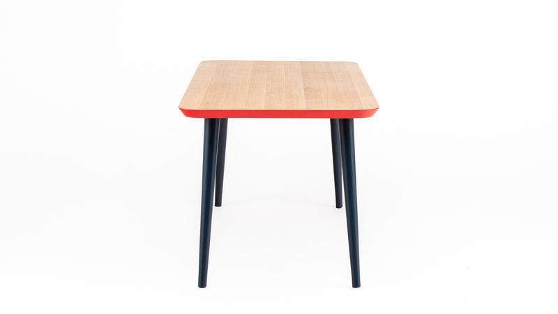 WW Oak, Red & Blue Dining Table - Custom Sizes - Hayche - Clerkenwell London