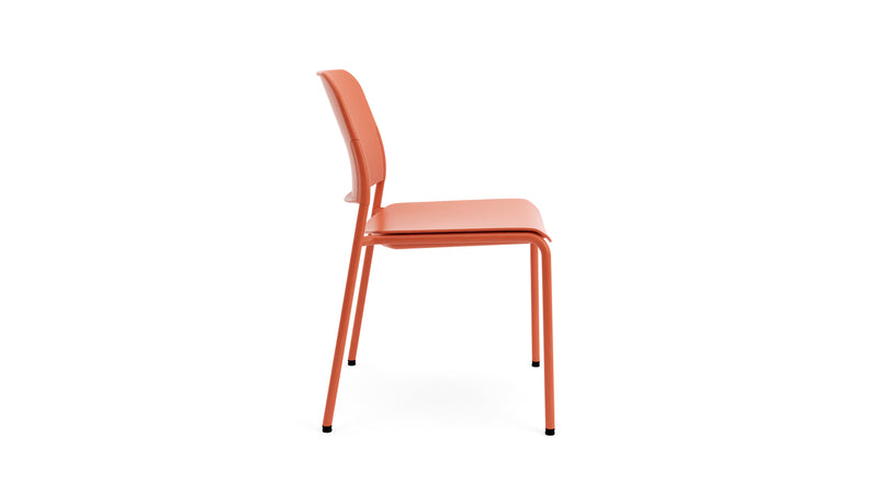 Orange Stackable Chair - Plastic & Metal - Beattie - Hayche Furniture